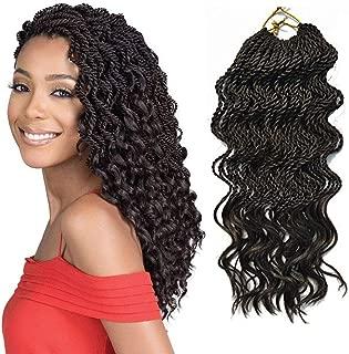 Flyteng senegalese twist crochet hair end wavy 35Strands/packs synthetic braiding hair extension 18 inch 6 packs wavy senegalese twist