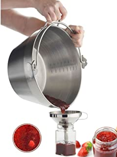 Jam Making Maslin Pan Stainless Steel Preserve Pot & Handle Bucket,Camping Pan (4.5L-4.5QT)
