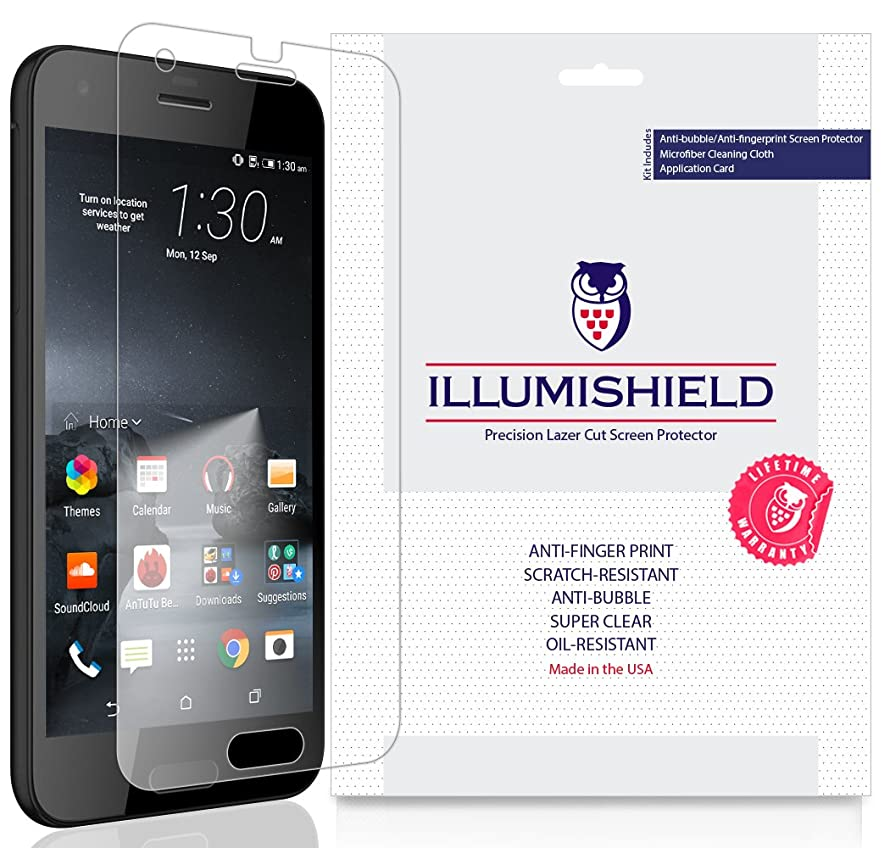 HTC One A9s Screen Protector [3-Pack], iLLumiShield Screen Protector for HTC One A9s Clear HD Shield with Anti-Bubble & Anti-Fingerprint Film