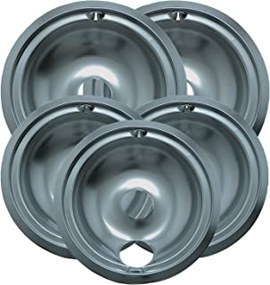 Range Kleen 16675X Chrome Plated Style B Drip Pans Sets of 5, 3 6-Inches & 2 8-Inches