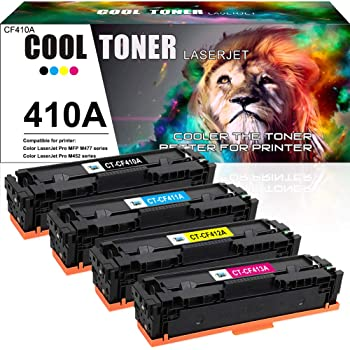 Compatible Toner Cartridges Replacement for HP 410A 410X CF410A CF411A CF412A CF413A Toner Cartridge for HP Color Laserjet PRO M452DN M452NW M452DW M477FDN M477FDW M477FNW Toner,4colors