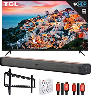 TCL 75S535 75-inch 5-Series 4K UHD Dolby Vision HDR Roku Smart TV Bundle with Deco Home 60W Soundbar with Dual Subwoofers,...