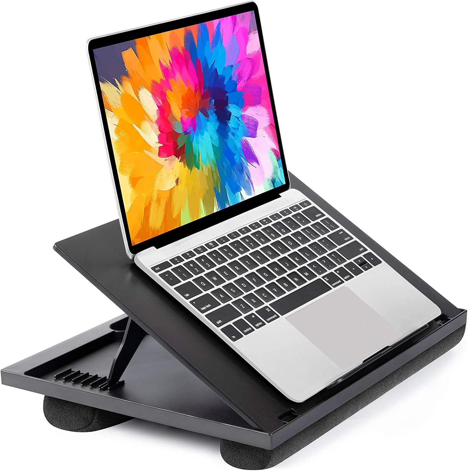 Amazon.com: Adjustable Lap Desk - with 8 Adjustable Angles & Dual Cushions  Laptop Stand for Car Laptop Desk, Work Table, Lap Writing Board & Drawing  Desk on Sofa or Bed by HUANUO: