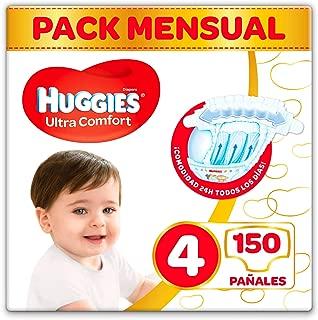 Huggies Ultra Comfort Pañales Talla 4 (7-18 kg) - 150 pañ
