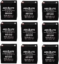 9PK AB1250 12V 5AH SLA Battery Replaces Genesis Datasafe NPX-25TFR, 12HX25T-FR