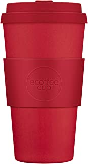 Reusable Sustainable To-Go Travel Coffee-Cup - Ecoffee Cup - Portable Natural Bamboo Fiber Cups With No Leak Silicone Lid ...