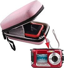 WERJIA Hard EVA Travel Case for SEREE YISENCE Waterproof Camera Full HD 1080P Underwater Camera 24 MP Digital Camera(Pink)