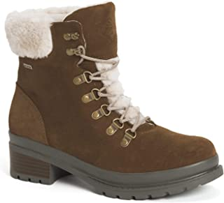 Muck Boot Women's Alpine Waterproof Suede Ankle Boot, Tan, 7.5