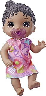 Baby Alive Baby Lil Sounds: Interactive Black Hair Baby Doll for Girls & Boys Ages 3 & Up, Makes 10 Sound Effects, Including Giggles, Cries, Baby Doll with Pacifier
