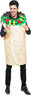 Men Burrito Costume Adult Deluxe Set for Halloween Dress Up Party