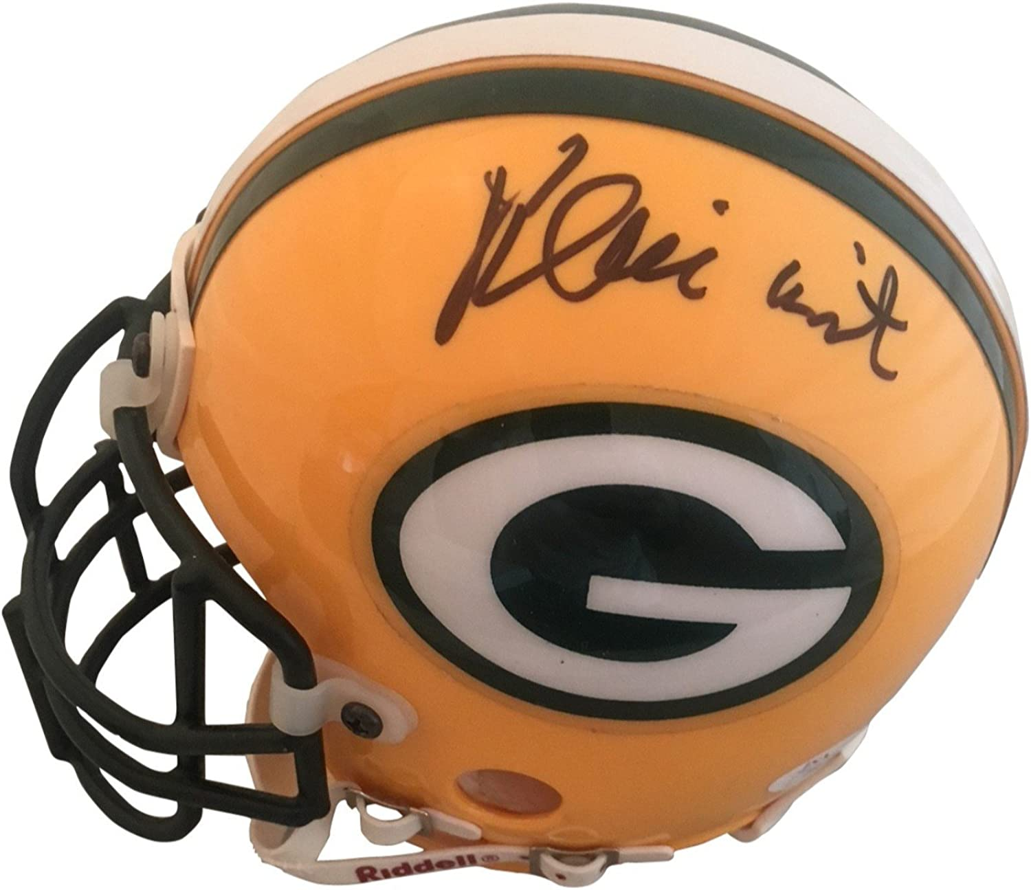 Reggie White Autographed Green Bay Packers Signed Football Mini Helmet JSA COA