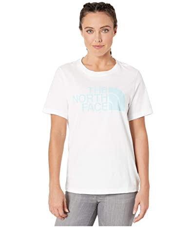 The North Face Short Sleeve Half Dome T-Shirt (TNF White/Bristol Blue) Women