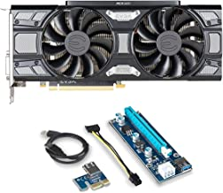 EVGA GeForce GTX 1070 Bundle 2 Items: EVGA GeForce GTX 1070 SC GAMING ACX 3.0 Black Edition DirectX 12 8GB GDDR5 (08G-P4-5173-KR)and Riser for Crypto Coin ETH Ethereum Zcash ZEC Bitcoin