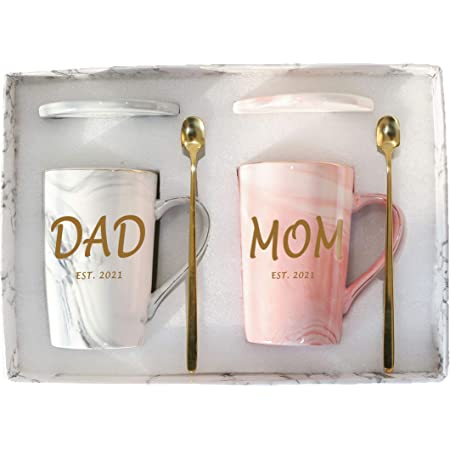 Christmas Gifts 2021 Dad Amazon Com Dad And Mom Marble Coffee Mug Set Est 2021 Dad And Mom Coffee Mug Set Est 2021 New Parents Pregnancy Gifts Birthday Christmas Gifts For New Dad Mom 2 Pack 14