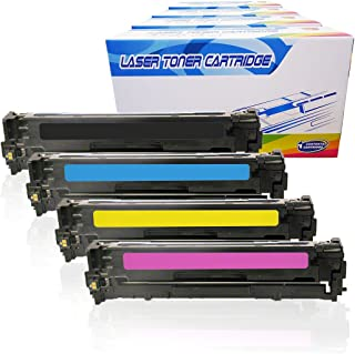 Inktoneram Remanufactured Toner Cartridges Replacement for HP 128A CE320A CE321A CE322A CE323A Laserjet Pro CP1525n CP1525nw CM1415 CM1415fnw CM1415fnw MFP ([Black,Cyan,Magenta,Yellow], 4-Pack)