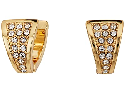 Vince Camuto Pave V Huggies Earrings (Gold/Crystal) Earring