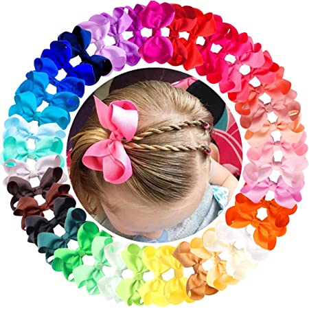 40 colours School Hair Clips 4-inch Boutique Bow Alligator Clips