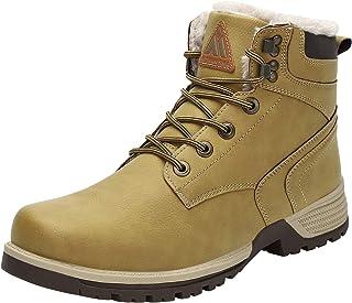 Mishansha Hombre Mujer Botas de Nieve Senderismo Impermeables Deportes Trekking Zapatos Fur Forro Aire Libre Boots Talla.3...