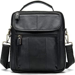 Mens Bag Top Layer Leather Casual Business Handbag Crazy Horse Leather Retro Men's Bag Briefcase Europe And America Men's Bag Flip Men's Bag Men's Shoulder Bag High capacity