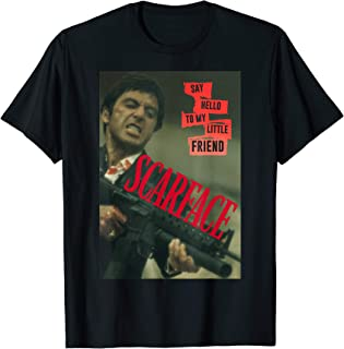 Scarface Say Hello To My Little Friend Photo Graphic T-Shirt