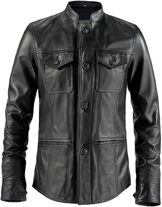 Pelletteria Factory Weller Mens Black Shirt Style Leather Jacket - Winter Leather Jacket for Men