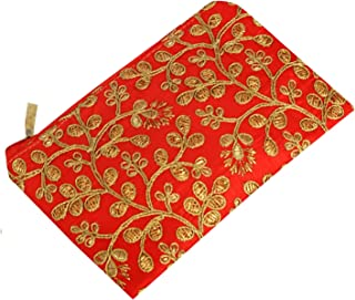 Kuber Industries Embroidery Hand Purse/Wallet For Women (Red)
