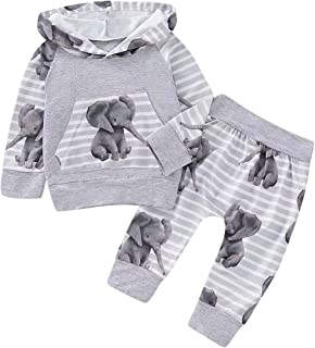 Baby Girl Clothes Outfits Newborn Infant Long Sleeve Hoodie + Pants 0-24 Months