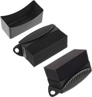 VICASKY 2Pcs Limpar Aplicador Pads de Limpeza de Pneus Do Pneu Brilho Gloss Esponja De Polimento de Cera
