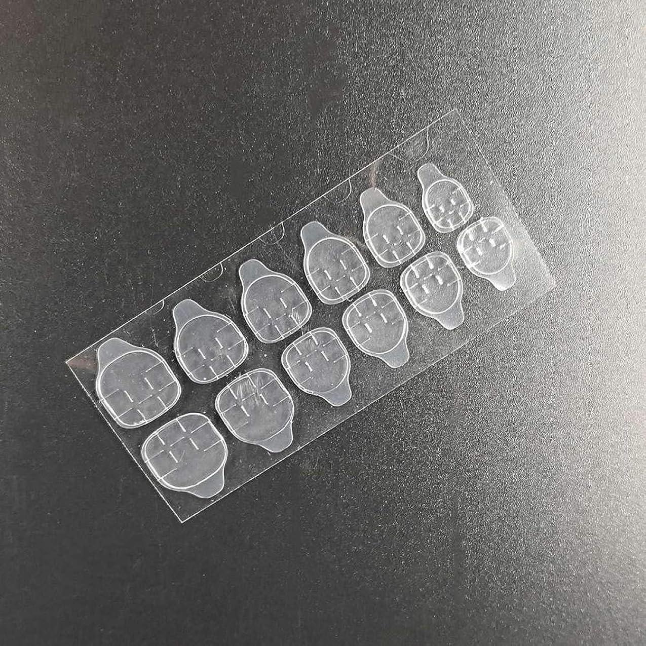 不利益エスカレーターラケットQuzama-JS ニースネイルゼリー両面粘着テープ透明ネイルグルーステッカーネイルアート美容実用実用ネイルゼリーステッカー(None Clear strip)