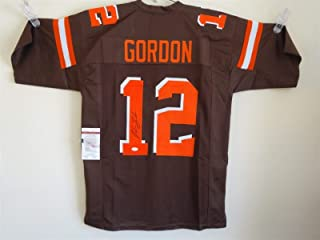 596bf9187 JOSH GORDON SIGNED AUTO CLEVELAND BROWNS BROWN COLOR RUSH JERSEY JSA  AUTOGRAPHED