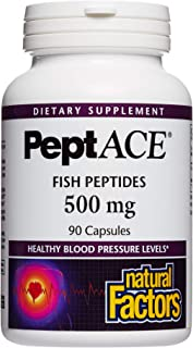 Natural Factors, PeptACE Fish Peptides, Cardiovascular Support for Healthy Blood Pressure Levels Already within the Normal...