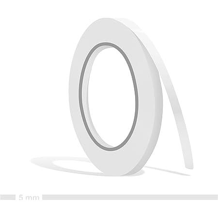 Siviwonder Zierstreifen Weiß Glanz In 5 Mm Breite Und 10 M Länge Für Auto Boot Jetski Modellbau Klebeband Dekorstreifen Auto