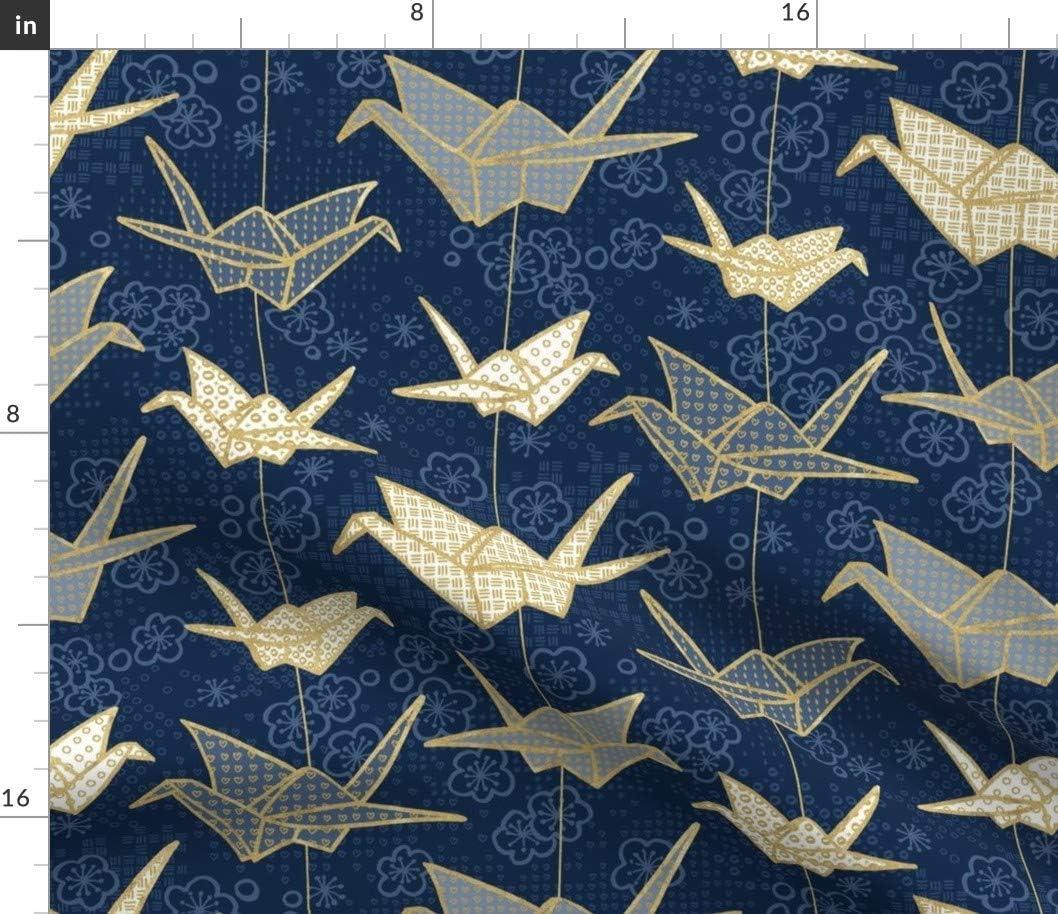 Spoonflower Fabric - Luck Cranes Ultra-Cheap Deals Origami Peace Go quality assurance Japanese Crane