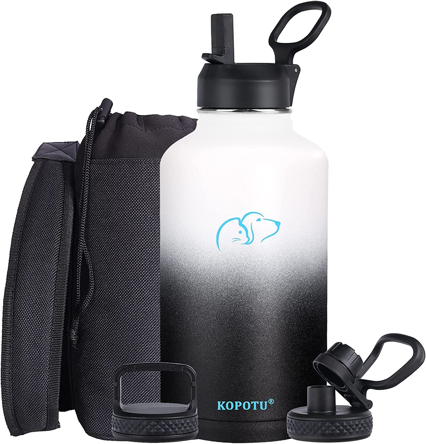 Stainless Steel discount Water Bottle 64 with Max 68% OFF 3 Straw oz lid