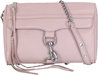 Rebecca Minkoff MAC Leather Clutch Crossbody Bag, Blush