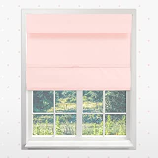 Chicology Cordless Magnetic Roman Shades / Window Blind Fabric Curtain Drape, Thermal, Room Darkening - Rose Pink, 23