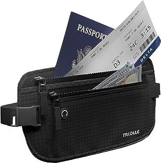 Money Belt for Travel RFID Waterproof - Running Pack - Waist Pack - Hidden Wallet - Travel Wallet - Security Money Belts (black, 1.0 inch thick)