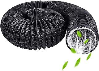 HG Power Abluftschlauch Flexibel PVC Alurohr Lüftungsschlauch Schallgedämmter Wärmeisolierung ø125mm Alu Flex-Schlauch Abluftrohr für Abluftventilator, Zimmer, Badezimmer, Küche, Hydroponik Lange 5m