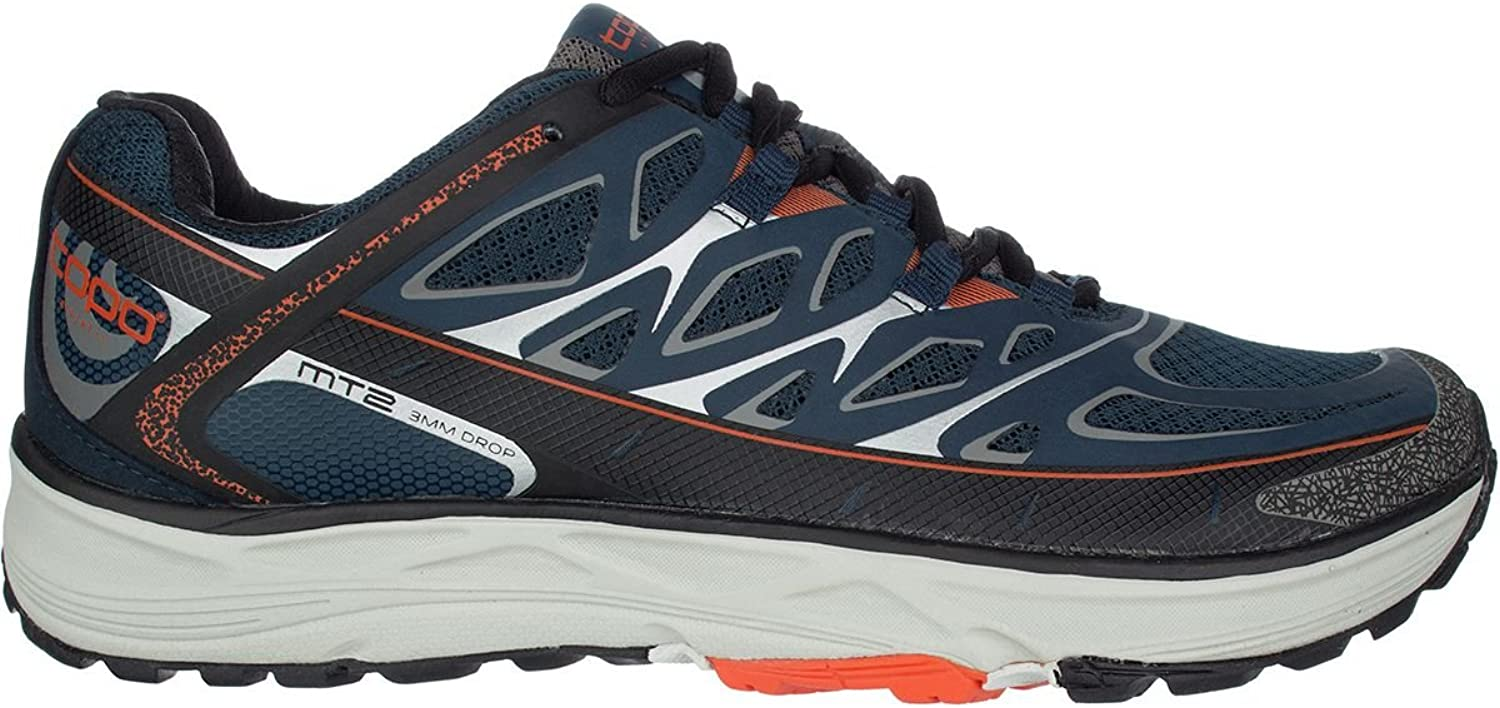 Topo Athletic MT2 Trail Running shoes - Men's Navy Grey 8