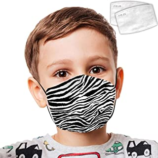 Leopard Grain Black White Dustproof Washable Reusable with Filter Girl Boy Outdoor Mouth FA_ce Ma_sk
