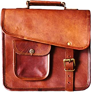 Men's Genuine Leather Small Briefcase Messenger Satchel Ipad Tab Tablet Bag
