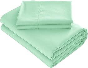 Prime Bedding Bed Sheets - 4 Piece Queen Sheets, Deep Pocket Fitted Sheet, Flat Sheet, Pillow Cases - Queen Sheet Set, Mint