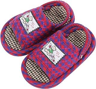 IPENNY - Zapatos de bebé de algodón suave para bebé, silenciosos en casa, para niños y niñas de 1 a 3 años