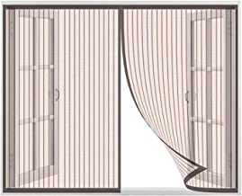 Horrennet magnetisch Glasvezel gaasnet Gaasgordijn Past op elke maat Geschikt voor meerdere ramen(100x125cm(39x49inch), Br...