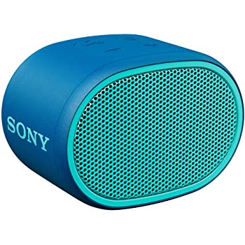 Sony XB01 Bluetooth Compact Portable Speaker Blue (SRSXB01/L) (Renewed)
