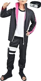 US Size Adult Anime Boruto Halloween Cosplay Costume