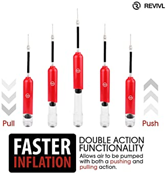 REVIVL Ball Pump with 5 Needles and 1 Nozzle - Air Pump for Inflatables, Basketball, Soccer, Volleyball, Football, Sp...