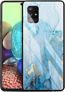 MOONCASE Galaxy A51 5G Case, Hybrid Shockproof Soft TPU Tempered Glass Back Cover Ultra thin Protective Phone Case for Sam...