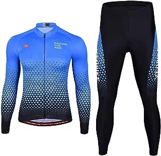 Men's Casual Tracksuit Men Winter Thermal Cycling Jacket Set Windproof Waterproof Warm Bike Jacket MTB Pant Bicycle Suit C...