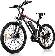 VIVI Bicicleta eléctrica de montaña 26/27.5 Pulgadas, Motor de 350 W, 36 V, 10.4 Ah, batería extraíble, Bicicleta eléctrica para Adultos.